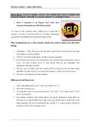 English Worksheet: Agony aunt - giving advice