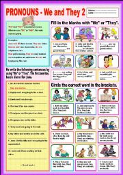 English Worksheets: Pronouns - We & They 2