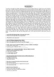 English Worksheets: The Pencil Box