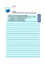 English Worksheet: Twitter/facebook .Part 2