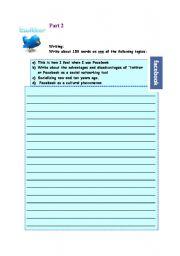 English worksheet: Twitter/facebook .Part 2