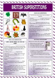English Worksheet: British Superstitions