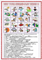 English Worksheets: Test your English-PastTenses 2