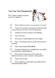 Test your time management esl worksheet by jasmart test your time management ibookread PDF