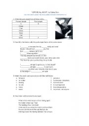 English Worksheets: I drove all night, by Celine Dion
