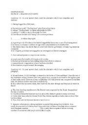 English Worksheets: Sampleprofiencytest