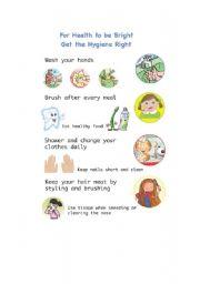 English Worksheet: Hygiene