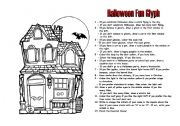 English Worksheets: Halloween Glyph