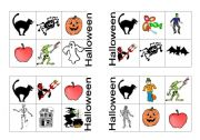 English Worksheet: HALLOWE�EN BINGO