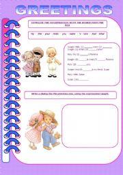 English Worksheets: GREETINGS PART 3