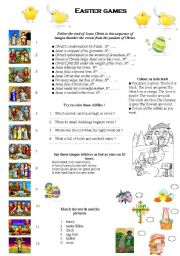 English Worksheet: easter games