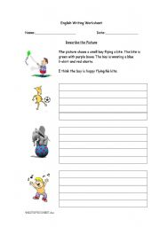 English Worksheets: Describe the Pictures