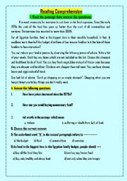English Worksheets: Two reading COMPREHENSION  passages (2)