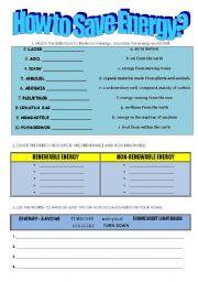 how to save energy esl worksheet by anna roszkowska. Black Bedroom Furniture Sets. Home Design Ideas