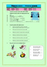 English Worksheets: THERE WAS - THERE WERE