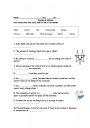 english worksheets states of matter. Black Bedroom Furniture Sets. Home Design Ideas