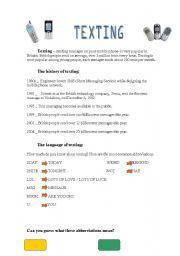 English Worksheets: Texting