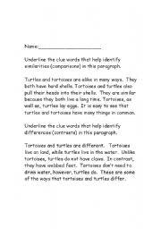 English Worksheet: Context Clues