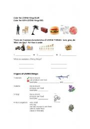 Printables Characteristics Of Living Things Worksheet english worksheets living things worksheet things