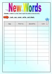 English Worksheets: learning new words