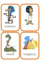 English Worksheet: Ancient Egypt Flashcards 1