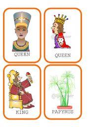 English Worksheet: Ancient Egypt Flashcards Set 2