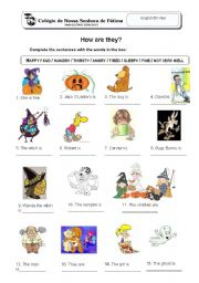 English Worksheets: How are they?
