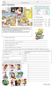 English worksheet: TEST BEGINNERS