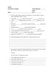 English worksheet: Quiz on future tenses
