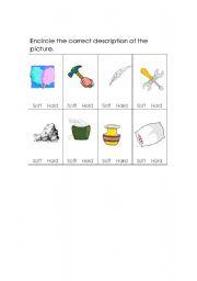 English Worksheets: Soft or Hard