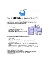 English Worksheet: Digital Autobiography