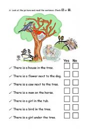 English Worksheets: There is practice