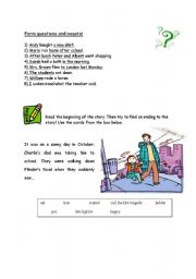 English Worksheets: questions and negation/story writing (guided composition)