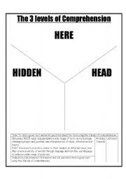 English Worksheets: 3 levels of comprehension part 2