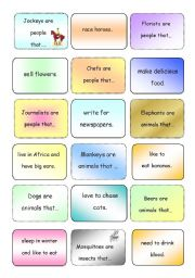 English Worksheets: That Who Where clauses...