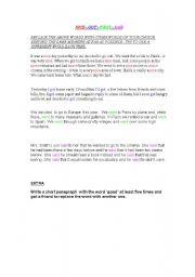 English Worksheets: Nice Got  Went  Said