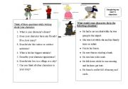English Worksheets: imagine your character