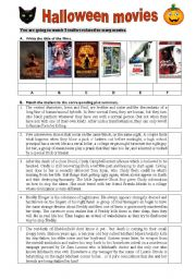 English Worksheet: Halloween movies