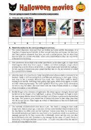 English Worksheets: Halloween movies