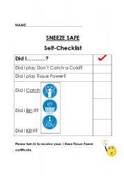 English Worksheets: Sneeze Safe