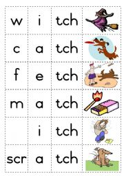 English Worksheets: Consonant diagraph - tch - Game
