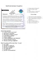 English Worksheets: there is / are