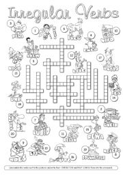 Irregular Verbs Crossword 2