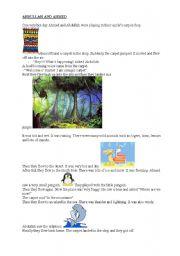 English Worksheets: ABDULLAH AND AHMED