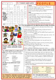 English Worksheets: People
