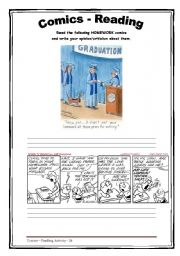 English Worksheets: Homework - Cartoon - Reading 26