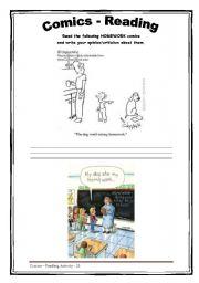 English Worksheets: Homework - Comics - Reading 25