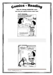 English Worksheets: Homework - Comics - Reading 24