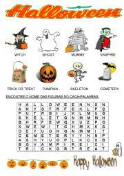English Worksheets: HALLOWEENSEARCH