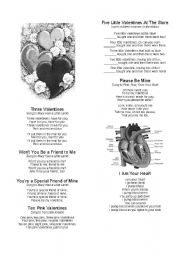 English Worksheet: Valentine´s Day Songs and Poems (Part 2)